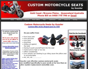 Custom Motorcycle Seats Old Website
